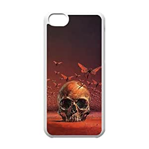 WJHSSB Print Artsy Skull Pattern PC Hard Case for iPhone 5C