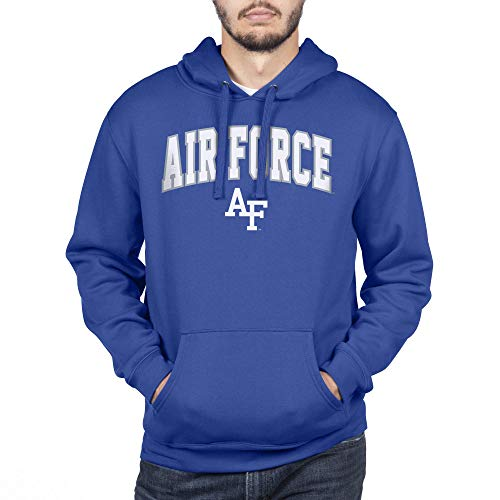NCAA Air Force Falcons Men's Team Color Hoodie Sweatshirt, Royal, Large (United States Air Force Academy Colors Blue)