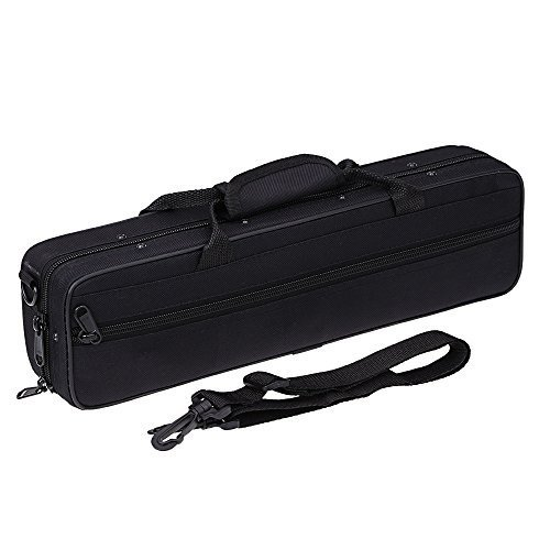Andoer 600D Water-resistant Flute Gig Bag Box with Adjustable Single Shoulder Strap Pocket, Case for concert flute