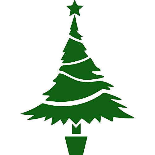 Christmas Tree ICON (Green) (Set of 2) Premium Waterproof Vinyl Decal Stickers for Laptop Phone Accessory Helmet Car Window Bumper Mug Tuber Cup Door Wall Decoration ()