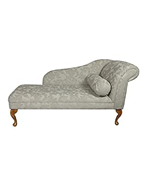 56 Large Classic Chaise Longue Sofa Day Bed Pale Cream Floral