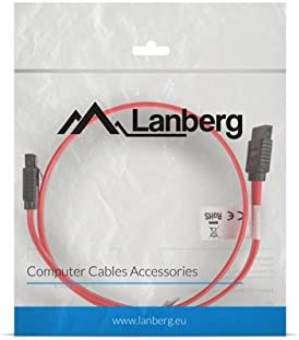 lanberg Sasa from 11CU 0100/R SATA Data Plug III 7pol with Metal Clips Cable 1/m Red