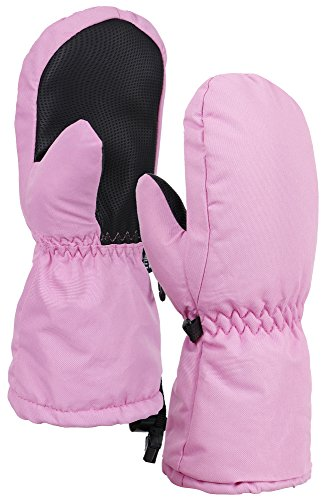 Andorra Kids Premium Weather-Proof Thinsulate Insulation Ski Gloves,Solids,M,Pink
