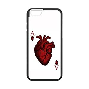iPhone 6 Plus 5.5 Inch Cell Phone Case Black Ace of Hearts Zpjlg