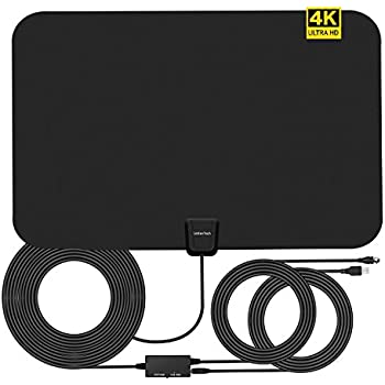 TV Antenna Indoor,4K HDTV Antennas,Antenna TV Digital HD 80 Miles Range 16.5FT Coaxial Cable with Detachable Amplifier Signal Booster 2018 New