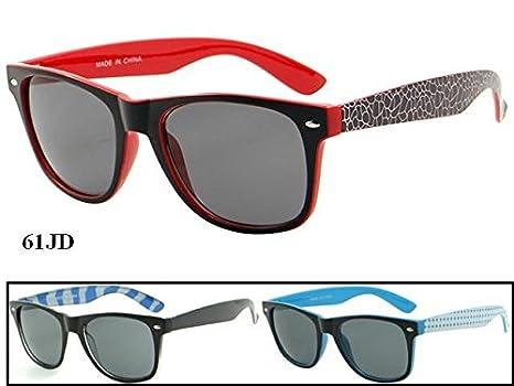 e1415e342d5 12 Pairs Of Wholesale Unisex Plastic Trendy Pattern Armband Two Toned  Wayfarer Sunglasses BuyWholesaleSunglasses