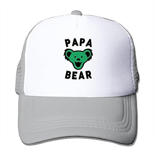 Grateful Dead Visor - Unisex Papa Bear Best Dad Ever Grateful Dead Adjustable Mesh Caps Visor Hats