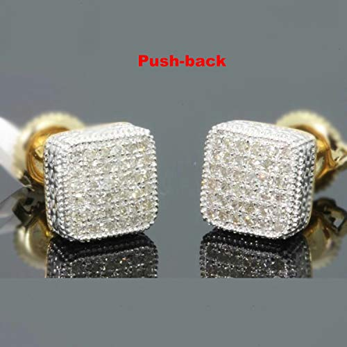 - 3 Styles Geometry Gold/Silver Color Screw back Stud Earrings For Women Men 2019 Fashion Jewelry Micro Pave CZ Earring Z3M167,M130