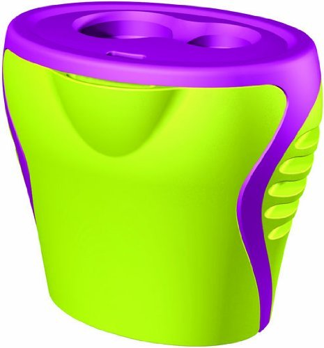 Generic Green and Purple 2 Hole Sharpener by Generic