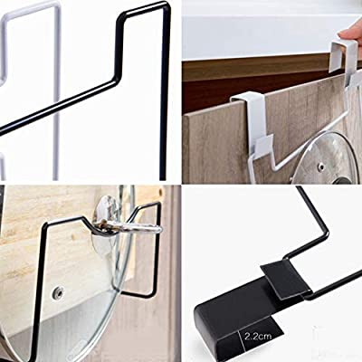 Amazon.com: Handfly Over Door Pot & Pan Lid Holder, Wall or ...