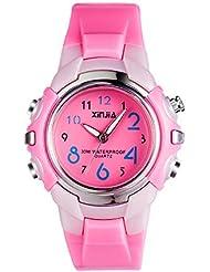 Yokgrass Kids Watches Silicone Waterproof Children Analog Watches Toddler Wrist Watch Time Teacher for Ages 3-10 Girls Little Child
