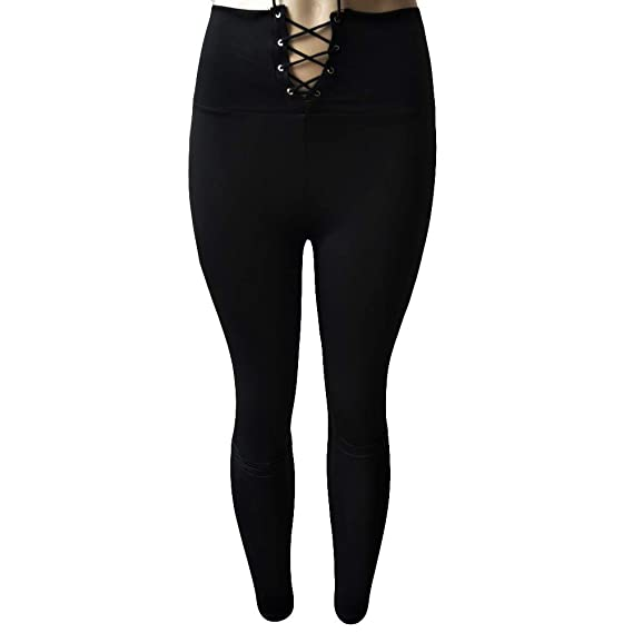 Cebbay Mujer Pantalones elásticos de Yoga Deportivas Pantalones ...