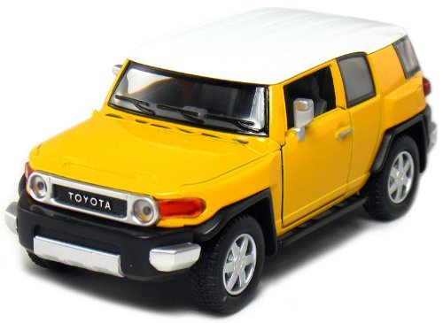 Set of 4 Black//Blue//Red//Yellow Kinsmart-Kinsfun 5 Toyota FJ Cruiser 1:36 Scale