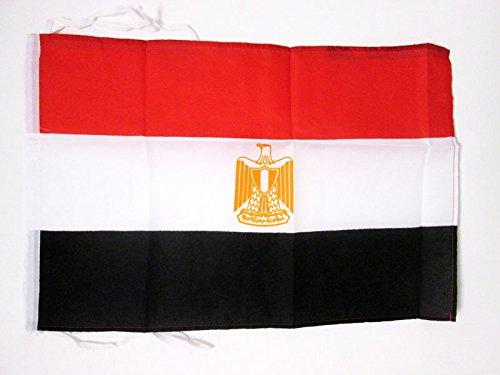 AZ FLAG Bandiera Egitto 45x30cm - BANDIERINA EGIZIANA 30 x 45 cm cordicelle