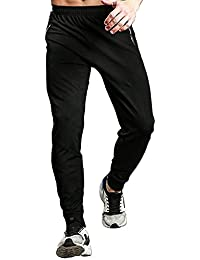 Men's Athletic Running Sport Jogger Pants with Zipper Pockets
