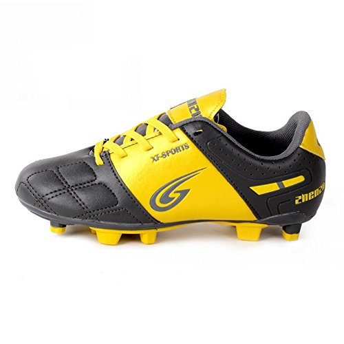 Xing Lin Fußballschuhe Kinder Fußball Schuhe Männlichen Gebrochen Nail Ausbildung Schuhe Jungen Studierenden Jungen Und Mädchen Leder Füße Titanium gray/gold