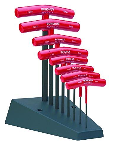 Bondhus 13389 Set of 8 Hex T-handles with Stand, sizes 2-10mm by Bondhus