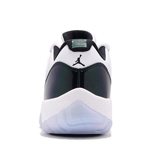 Jordan Retro 11 Basse Pâques Blanc / Noir-émeraude Montée Blanc / Noir-émeraude