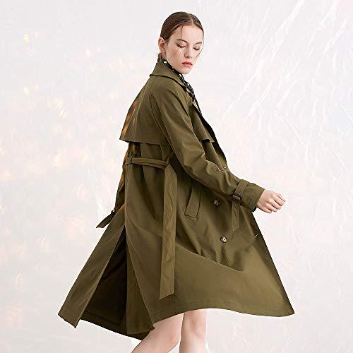 Olive Vert Liquide Boutonnage coat Double En Soie Trench Lilysilk À Trench Manteau Hv0POP