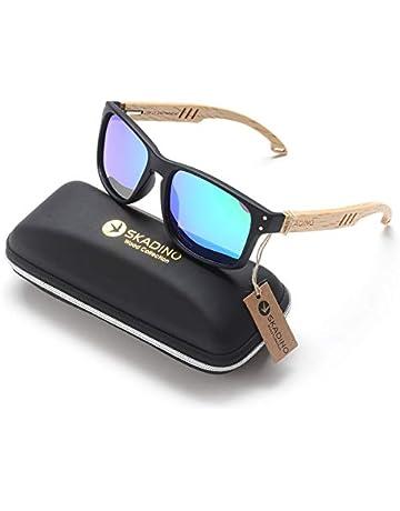 ffb834dd3b3 SKADINO Sunglasses Wood Unisex Classic Polarized Sunglasses For Men Women  SKD214
