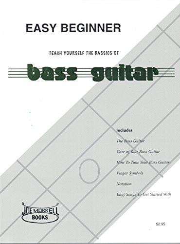 Book Guitar Basic Only Instruction (Easy Beginner Electric Bass Guitar Instructional Book)