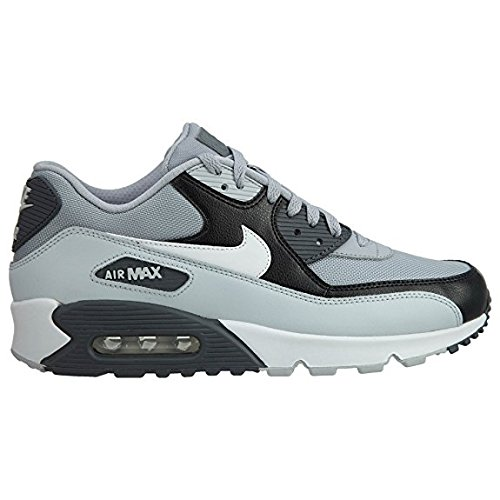 Nike Mens Air Max 90 Essential Running Shoes Wolf Grey/Pure Platinum/Black/White 537384-083 Size 11.5