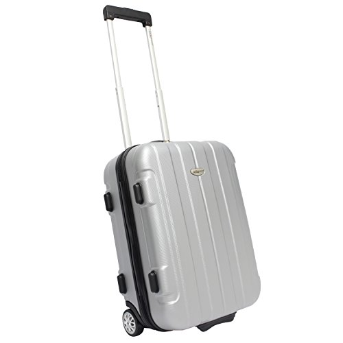 "Travelers Choice Rome 21"" Carry On, Silver"