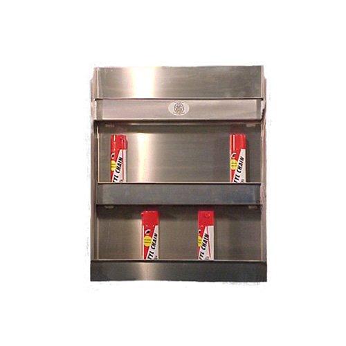 Pit Posse 24 Aerosol Can Holder Cabinet Shelf Aluminum Shop Garage Enclosed Race Car NHRA Trailer Accessory