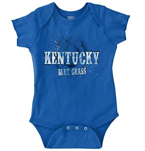 Brisco Brands Kentucky Blue Grass Horseshoe KY Horse Race Romper Bodysuit