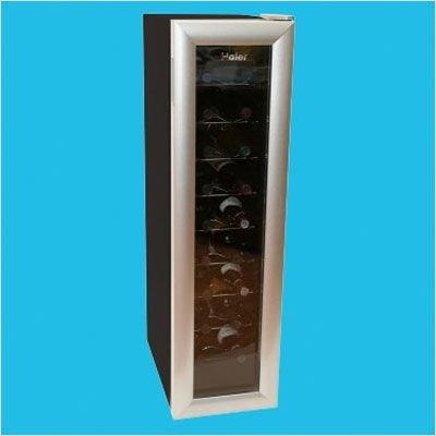 UPC 688057380612, Haier HVW18ABS 18-Bottle Wine Cooler, Black and Silver