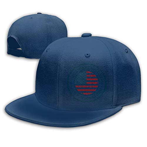 Adjustable Sports Plain Baseball Cap, Independent Day American Solid Twill Hat, Unisex