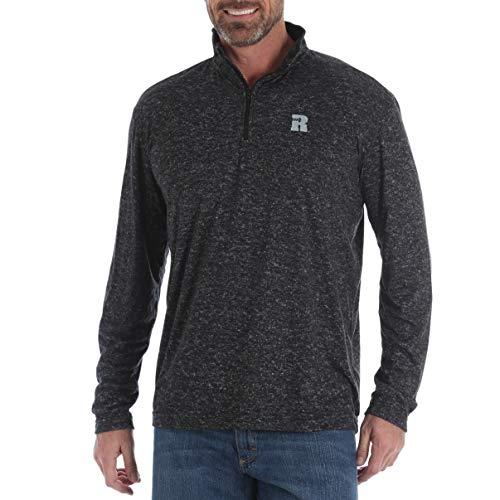 Wrangler Riggs Workwear Men's 1/4 Zip Performance Pullover, Charcoal, L