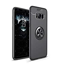 Heavy Armor Samsung Galaxy S8 Case Ring Holder Kickstand Magnetic Base Dual Layer Car Mount Rotable Dual Layer Protective Hard Shell PC Bumper Samsung Galaxy S8 Plus (1, Samsung Galaxy S8 Plus)