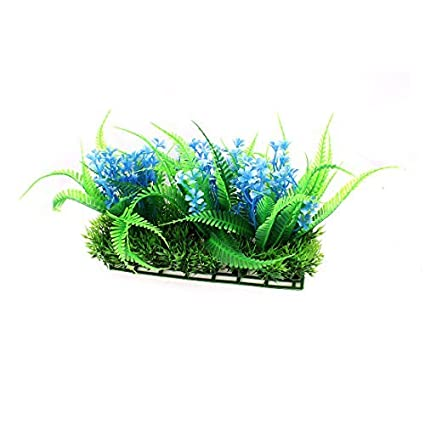 Amazon.com : eDealMax plástico Artificial Submarino Hierba Planta decoración 17cm Altura Verde Azul : Pet Supplies