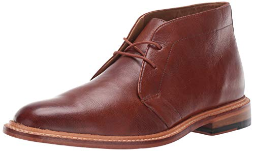 Bostonian Men's No16 Soft Mid Ankle Boot, Dark Tan Leather, 105 M US