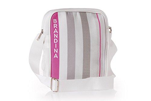 Brandina The Original - Bolso al hombro de tela para hombre Lisca Bianca