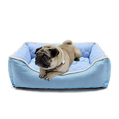 JEMA Pet Dog Self Cooling Bed - Comfort Summer Mat Crates Beds Rectangle Couch Cat & Puppy -