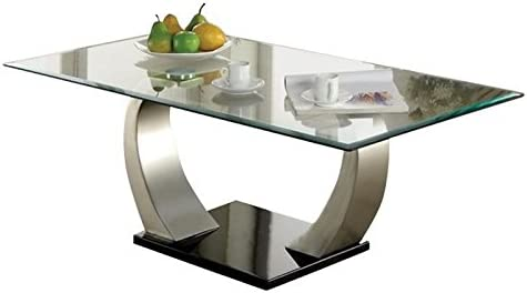 BOWERY HILL Glass Top Coffee Table