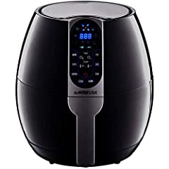 The GoWISE USA Electric Air Fryer is a new, healthy and easy way to fry food using rapid air circulation. Air frying gives you the option of frying, grilling, roasting, or baking your favorite foods; everything from cakes to French fries. It ...