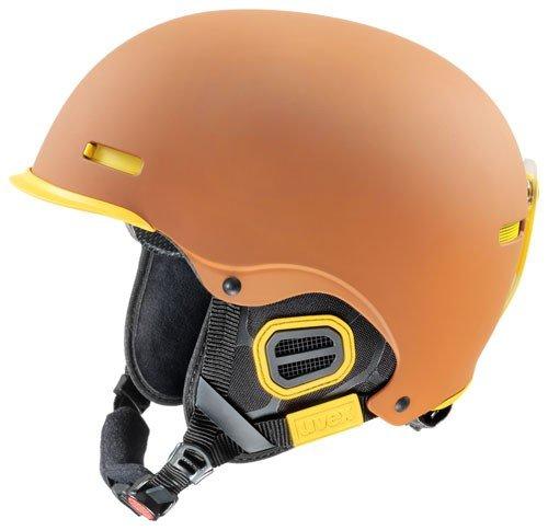 UVEX Skihelm hlmt 5 pro, Brown/Yellow Mat, 55-59 cm, S5661468605