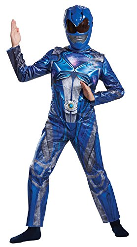 [Power Ranger Movie Classic Costume, Blue, Medium (7-8)] (2017 Costumes For Kids)