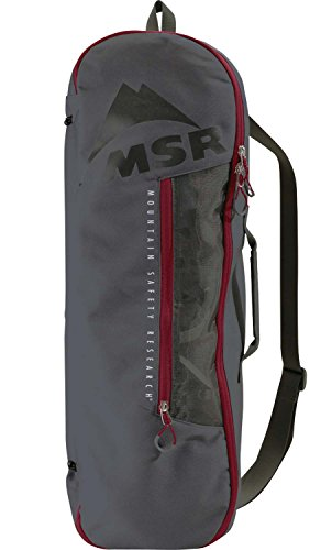 (MSR Snowshoe Bag Gray, Tote Bag for Carrying, Packing and Storing Snowshoes, Fits Snowshoes Up to)