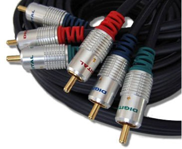 C4A® 5m Component Video Cable Shielded \ Gold Plated RGB Lead Cables 4 ALL