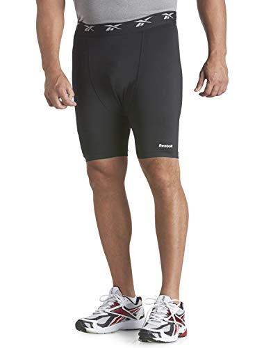 Reebok Big and Tall Play Dry Base Layer Shorts Black