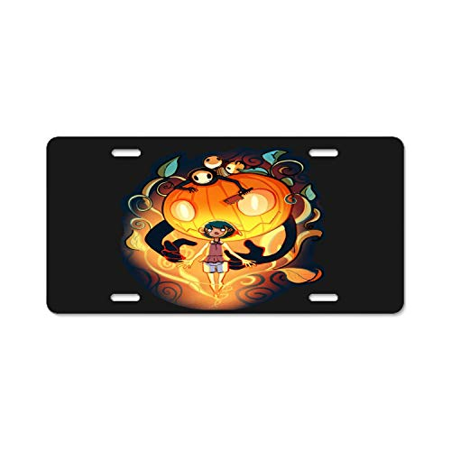 YEX Abstract Halloween Spirit License Plate Frame Car Licence Plate Covers Auto Tag Holder -