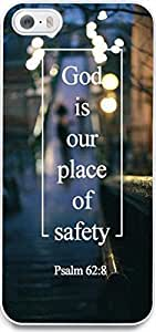 Dseason For Iphone 5/5S Phone Case Cover High Quality Design Protector quotes god is our place of safety
