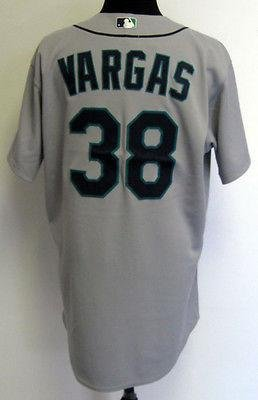 2010 Seattle Mariners Jason Vargas #38 Game Issued Gray Road Jersey – Game Used MLB Jerseys