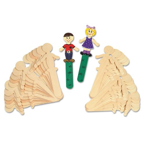 ChenilleKraft People Shaped Wood Craft Sticks - Natural (Wood Person compare prices)
