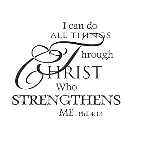 World Beautys I Can Do All Things Through Christ Quote Vinyl Wall