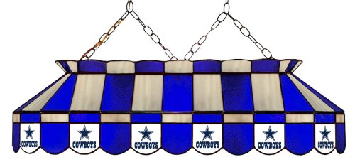 Imperial Officially Licensed NFL Merchandise: Tiffany-Style Stained Glass Billiard/Pool Table Light, Dallas Cowboys
